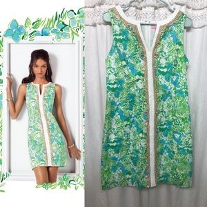 Lilly P. Janice Shift Dress Limeade It's a Zoo